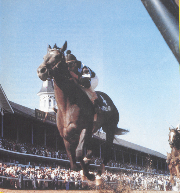 Skip Ball's Eclipse Award-winning photo of Spectacular Bid